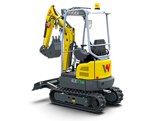 [Translate to French:] The fully electric mini excavator EZ17e