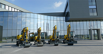 [Translate to Spanish:] Wacker Neuson Competence center for excavators in Linz